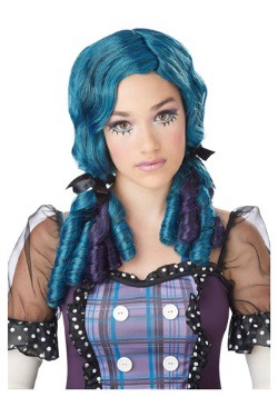 Blue / Purple Doll Curls Wig