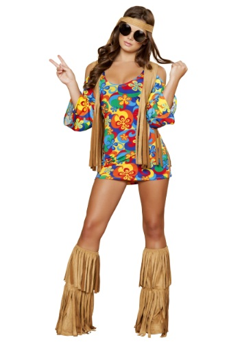 Click Here to buy Womens Hippie Hottie Costume from HalloweenCostumes, CDN Funds & Shipping
