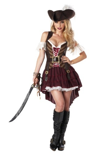 Click Here to buy Sexy Swashbuckler Captain Costume | Womens Sexy Pirate Costume from HalloweenCostumes, CDN Funds & Shipping