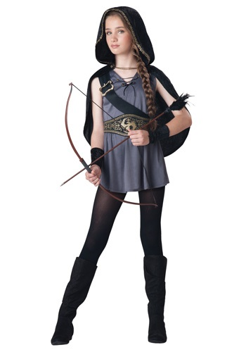 Click Here to buy Girls Hooded Huntress Costume from HalloweenCostumes, CDN Funds & Shipping