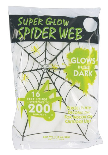 Glow in the Dark Spider Webs