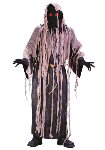 Click Here to buy Adult Light Up Gauze Zombie Costume from HalloweenCostumes, CDN Funds & Shipping