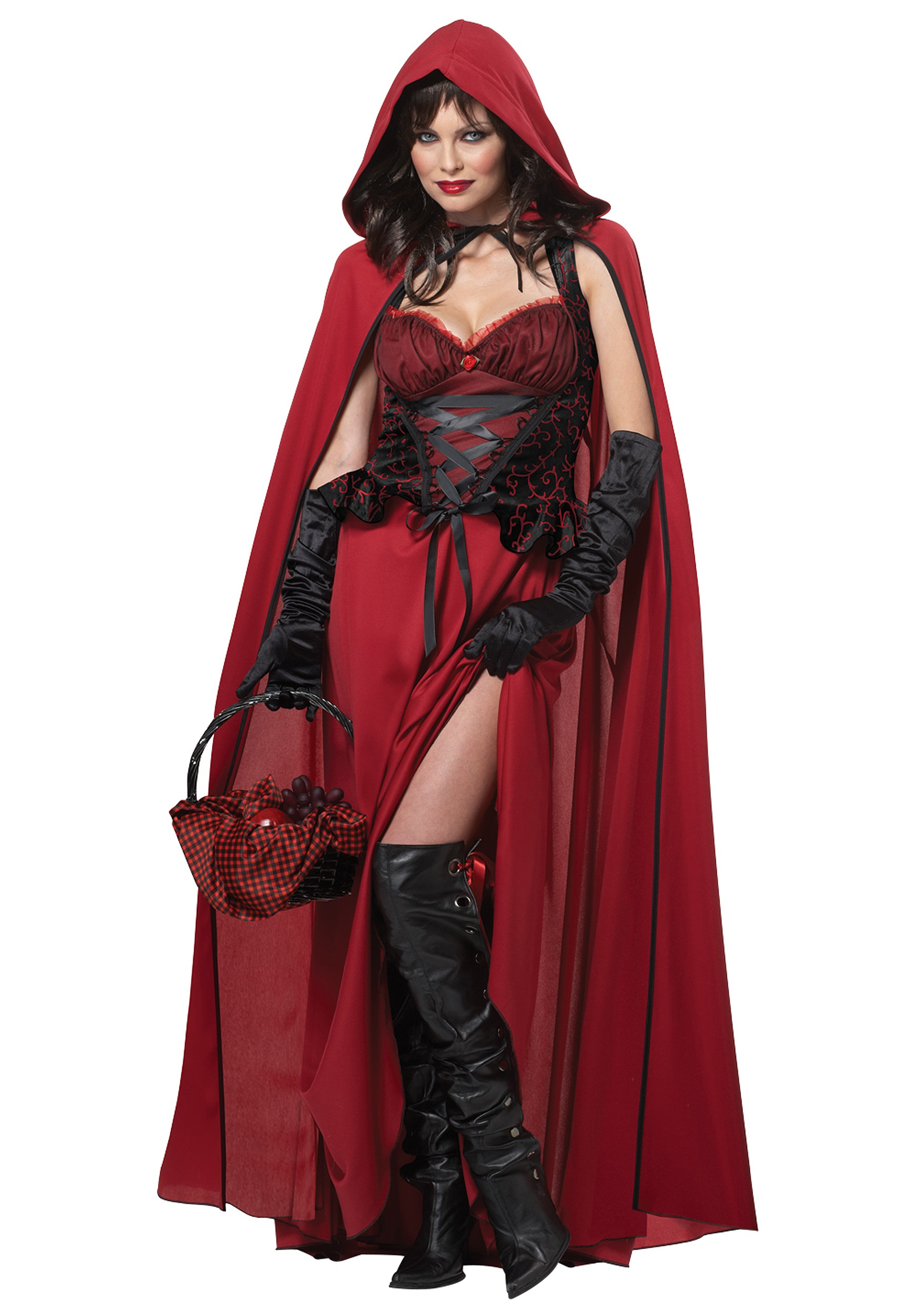 Gothic Red Riding Hood Womens Costume