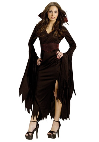 Click Here to buy Womens Gothic Vamp Costume from HalloweenCostumes, CDN Funds & Shipping