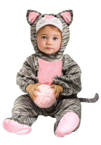 Toddler Striped Gray Kitten Costume | Kitty Cat Costume