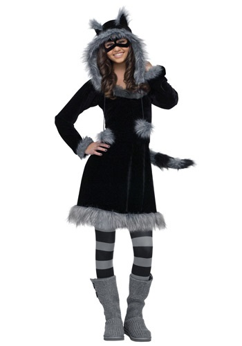Click Here to buy Sweet Raccoon Costume For Teen sizes from HalloweenCostumes, CDN Funds & Shipping
