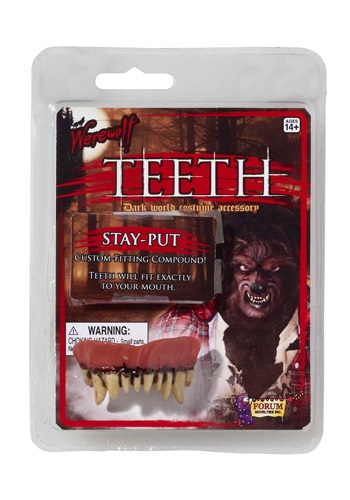 Click Here to buy Werewolf Teeth from HalloweenCostumes, CDN Funds