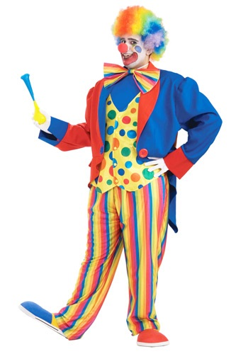 Plus Size Mens Clown Costume | Circus Clown Costume