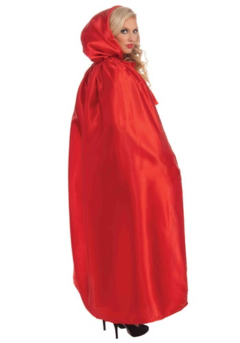 Red Satin Cape | Red Riding Hood Cape | Red Cape Costume