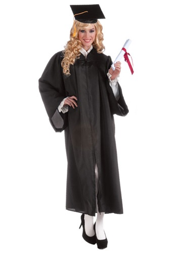 Black Adult Graduation Robe Costume