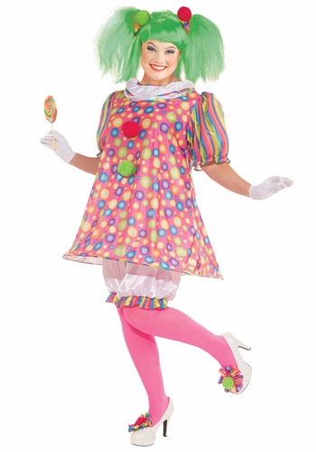 Click Here to buy Plus Size Tickles the Clown Costume from HalloweenCostumes, CDN Funds & Shipping