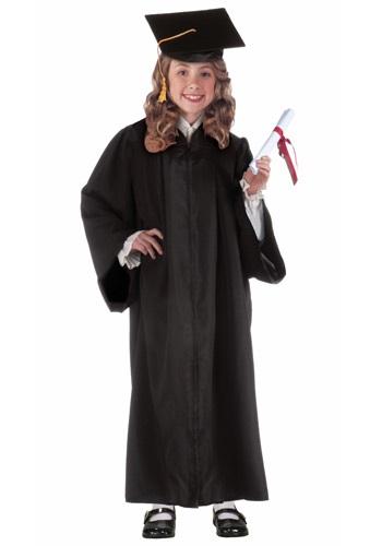 Black Child Graduation Robe Costume