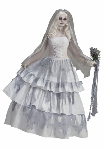 Click Here to buy Victorian Ghost Bride Costume from HalloweenCostumes, CDN Funds & Shipping