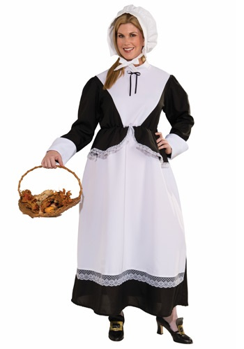 Click Here to buy Plus Size Pilgrim Woman Costume from HalloweenCostumes, CDN Funds & Shipping