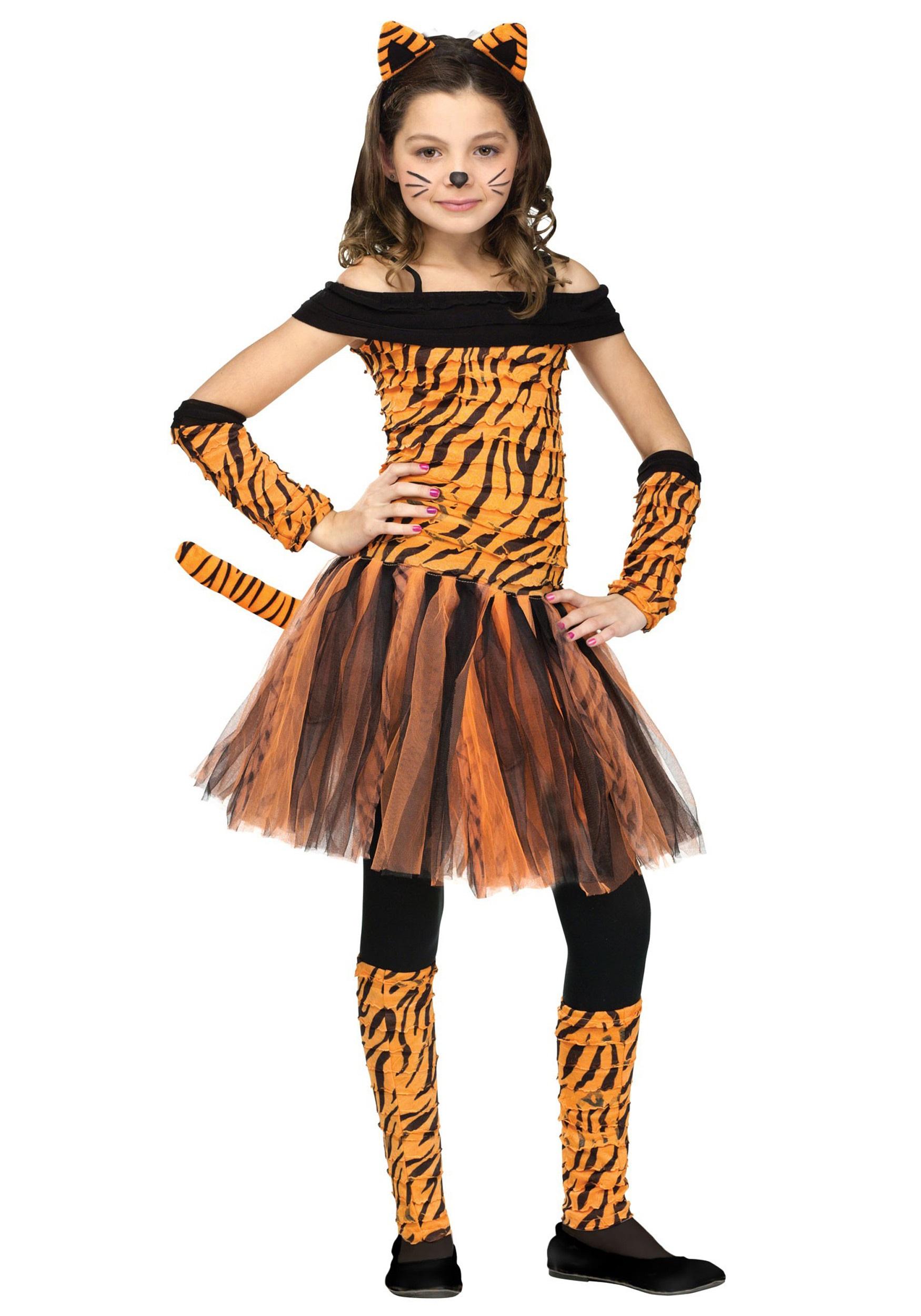 sc 1 st  Halloween Costumes UK & Girls Tigress Costume