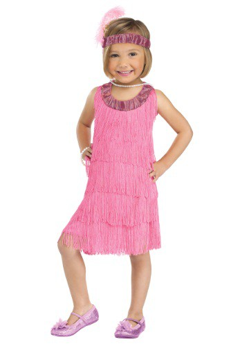 Child Pink Flapper Costume