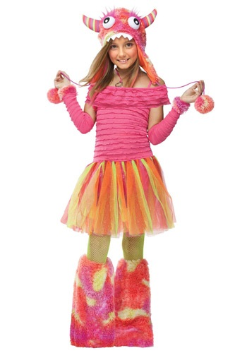 Click Here to buy Girls Wild Kids Monster Costume from HalloweenCostumes, CDN Funds & Shipping