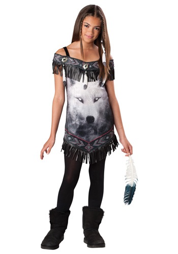 Click Here to buy Tween Native American Tribal Spirit Costume from HalloweenCostumes, CDN Funds & Shipping