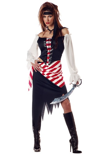 Click Here to buy Adult Ruby the Pirate Beauty Costume - Ladies Pirate Costumes from HalloweenCostumes, CDN Funds & Shipping