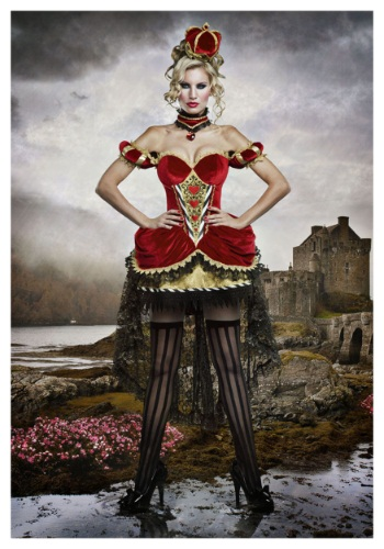 Click Here to buy Deluxe Queen of Hearts Costume For Women from HalloweenCostumes, CDN Funds & Shipping