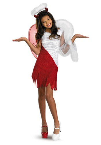 Tween Heavenly Devil Costume | Unique Halloween Costume