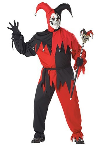 Click Here to buy Plus Size Evil Jester Costume from HalloweenCostumes, CDN Funds & Shipping
