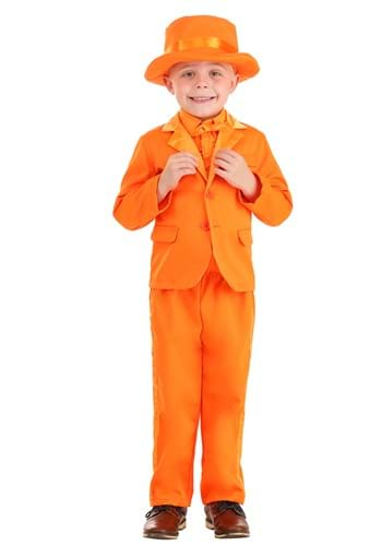 Click Here to buy Orange Tuxedo Costume for Toddlers from HalloweenCostumes, CDN Funds & Shipping