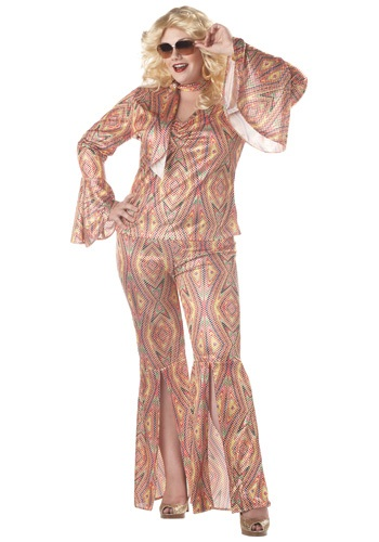 Click Here to buy Plus Size Womens Disco Costume from HalloweenCostumes, CDN Funds & Shipping