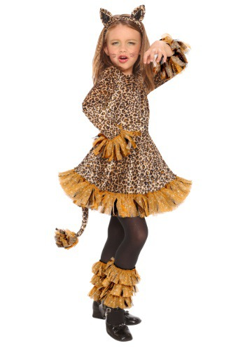 Girls Leopard Costume | Girls Cats Costume W/ Tail