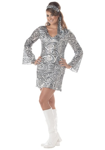 Plus Size Disco Diva Dress Costume - Adult Disco Party Costumes