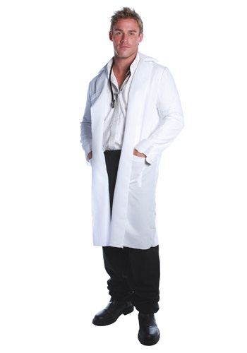 Click Here to buy Lab Coat Plus Size Costume from HalloweenCostumes, CDN Funds & Shipping