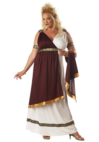 Click Here to buy Plus Size Roman Empress Costume from HalloweenCostumes, CDN Funds & Shipping