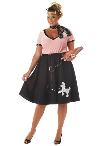 Click Here to buy Plus Size 50s Sweetheart Costume - Sock Hop Halloween Costumes from HalloweenCostumes, CDN Funds & Shipping