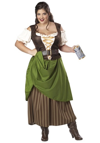 Plus Size Tavern Maiden Costume | Plus Size Renaissance Dress