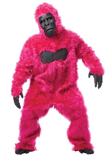 Click Here to buy Pink Gorilla Costume Suit from HalloweenCostumes, CDN Funds & Shipping
