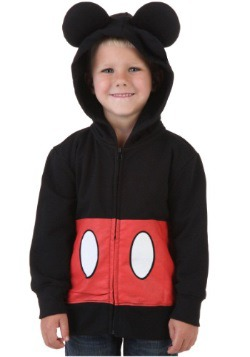 Toddler Mickey Mouse Costume Hoodie Front