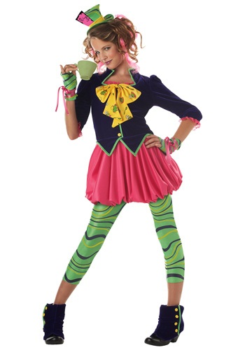 Click Here to buy Tween Miss Mad Hatter Costume | Wonderland Costumes from HalloweenCostumes, CDN Funds & Shipping