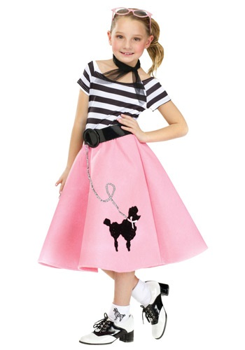 Girls Poodle Skirt Costume Dress