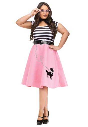 Poodle Skirt Dress Costume- Plus Size