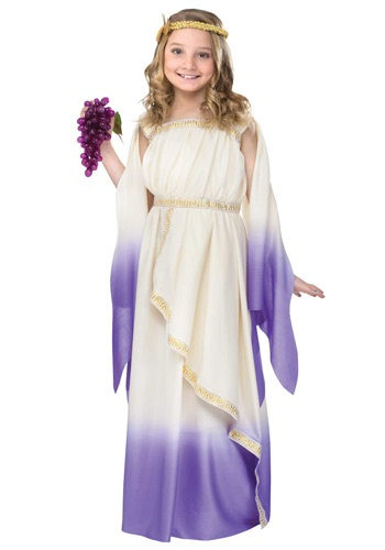 Girls Purple Goddess Costume