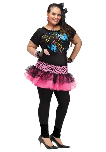 Click Here to buy Plus 80s Pop Party Costume from HalloweenCostumes, CDN Funds & Shipping