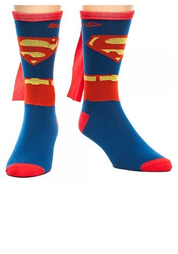 Click Here to buy Superman Cape Crew Socks from HalloweenCostumes, CDN Funds & Shipping