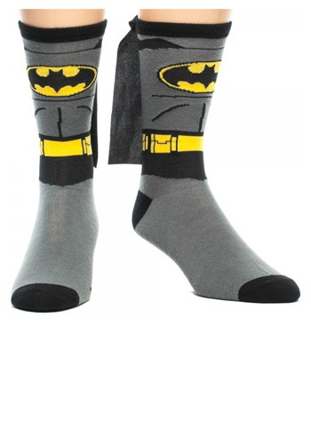 Click Here to buy Batman Cape Crew Socks from HalloweenCostumes, CDN Funds & Shipping