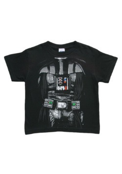 Kids Dark Star Wars Darth Vader Costume T-Shirt Front