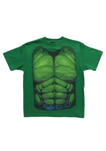 Kids Hulk Smash Costume TShirt Front