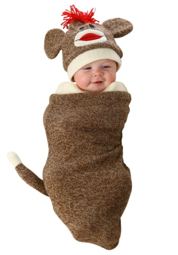 Sock Monkey Newborn Bunting Costume | Warm Costume