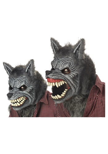 Click Here to buy Grey Werewolf Ani-Motion Mask from HalloweenCostumes, CDN Funds