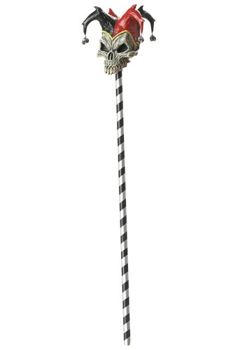 Click Here to buy Jester Skull Cane from HalloweenCostumes, CDN Funds & Shipping