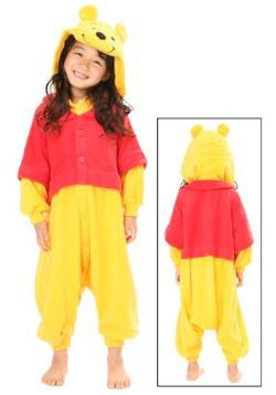Kids Pooh Pajama Costume Front