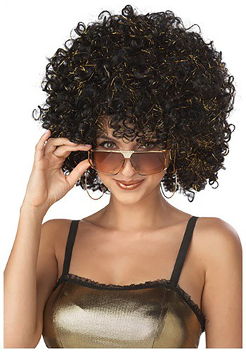 Click Here to buy Black and Gold Disco Wig from HalloweenCostumes, CDN Funds & Shipping